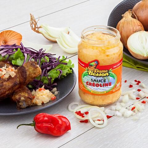 Sauce créoline et poulet grillé