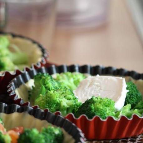 Duo de tartelettes aux brocolis