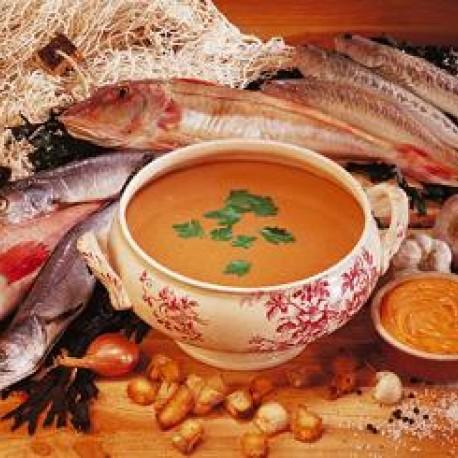 Soupe de poissons à la sauce piquante